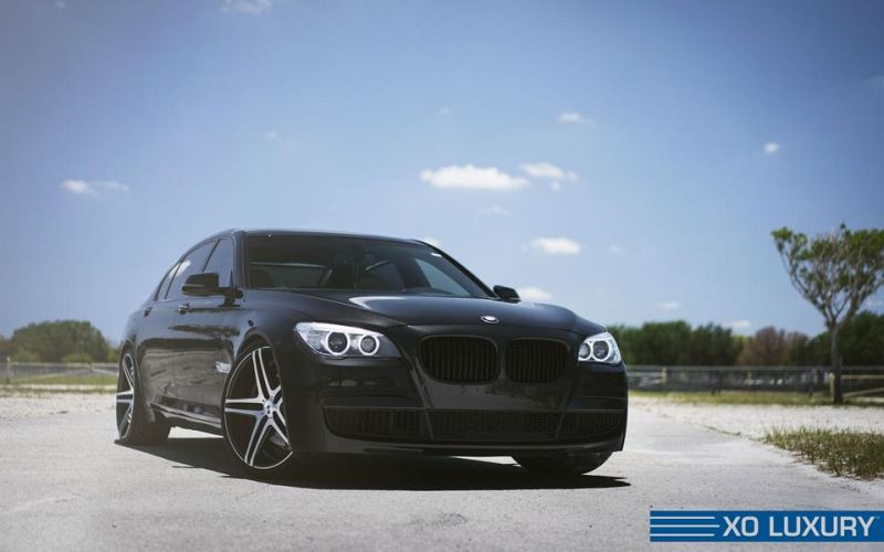 141 bmw xo 7er series 1 XO Luxury Wheels Caracas am BMW 7er 760Li in Schwarz