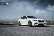 Alpine White BMW F10 M5 With Vorsteiner Flow Forged V FF 103 Wheels 2 190x127 21 Zoll Vorsteiner V FF 103 Alu´s am BMW M5 F10