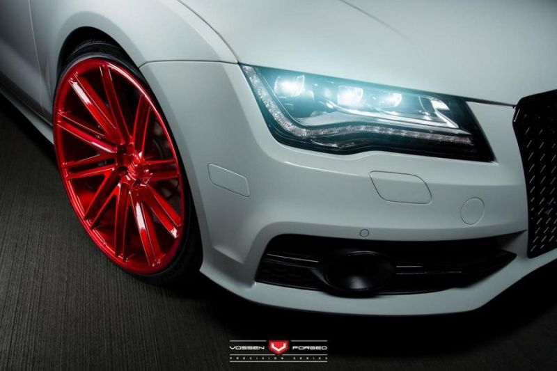 Audi S7 On VPS 309 By Vossen Wheels 01 Audi A7 S7 auf 22 Zoll Vossen Wheels VPS 309 in Rot