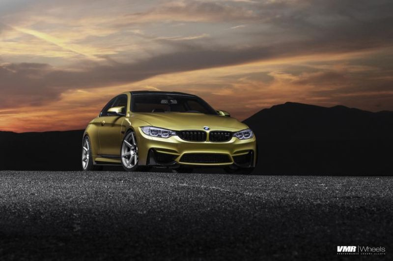 Austin-Yellow-BMW-F82-M4-With-V706-Matte-Gunmetal-Wheels-1