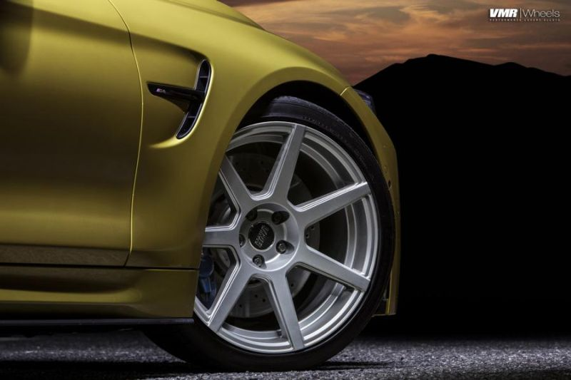 Austin-Yellow-BMW-F82-M4-With-V706-Matte-Gunmetal-Wheels-2