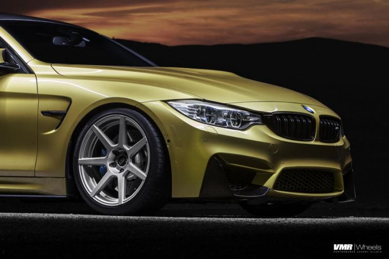 Austin-Yellow-BMW-F82-M4-With-V706-Matte-Gunmetal-Wheels-4