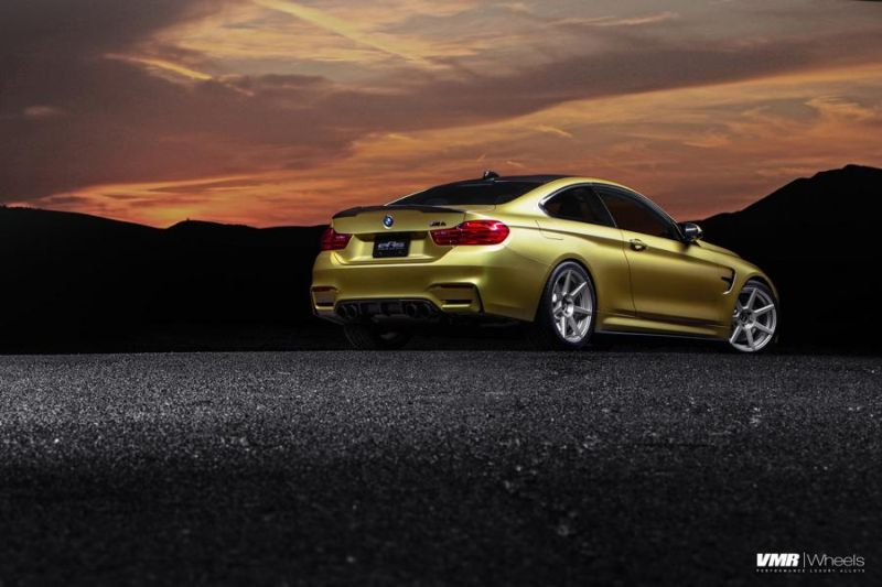Austin-Yellow-BMW-F82-M4-With-V706-Matte-Gunmetal-Wheels-7