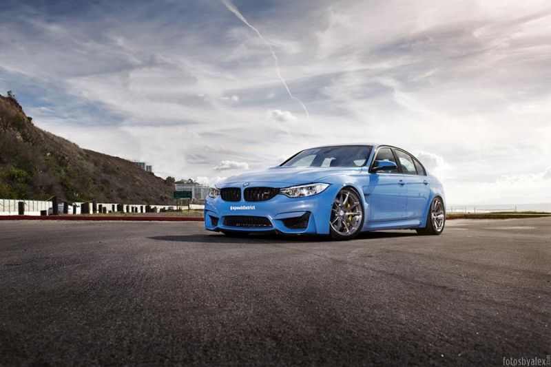 BMW M3 with HRE P44SC Wheels 2 19 Zoll HRE Wheels P44SC am BMW M3 F80