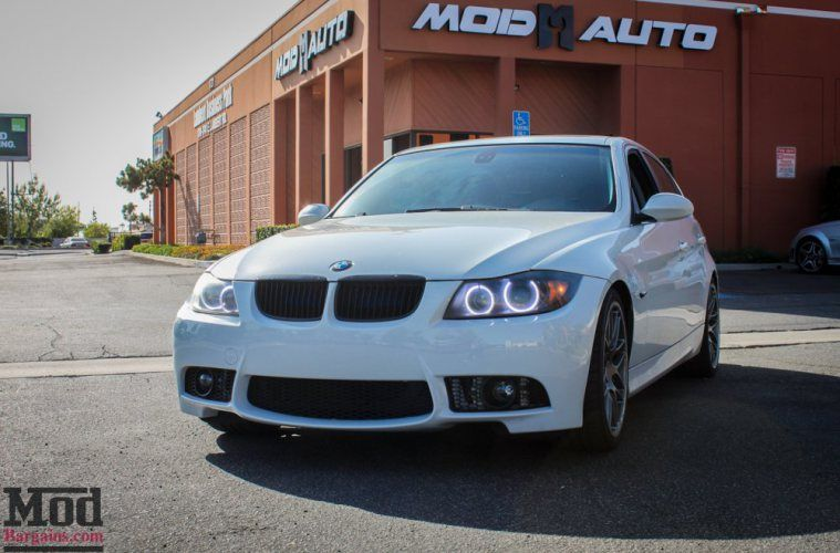 BMW E90 328i White M3 Bumper Msport RR  1 BMW E90 328i auf VMR VB3 Wheels by ModBargains