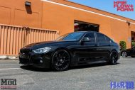 BMW F30 HR Springs HRE FF01 Black 7 190x127 ModBargains Tuning BMW F30 335i mit HRE FF01 Wheels