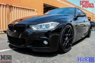 BMW F30 HR Springs HRE FF01 Black 8 190x127 ModBargains Tuning BMW F30 335i mit HRE FF01 Wheels