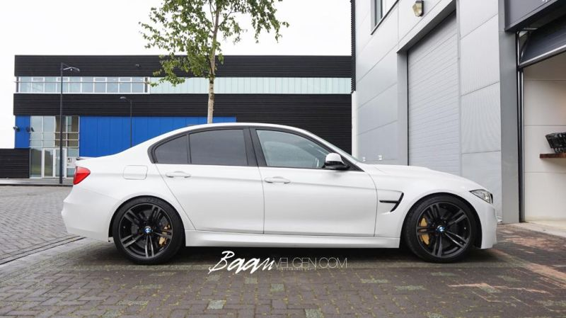 BMW F80 M3 HR Lowered Eibach 15mm 2 Dezent und gut   Baan Velgen tunt den BMW M3 F80