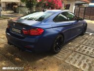 Frozen Blue BMW M4 tuning 2 190x143 Mattblaue Lackierung & IND Tuning Parts am BMW M4 F82