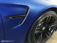 Frozen Blue BMW M4 tuning 4 190x143 Mattblaue Lackierung & IND Tuning Parts am BMW M4 F82