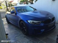 Frozen Blue BMW M4 tuning 5 190x143 Mattblaue Lackierung & IND Tuning Parts am BMW M4 F82