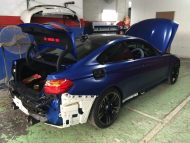 Frozen Blue BMW M4 tuning 6 190x143 Mattblaue Lackierung & IND Tuning Parts am BMW M4 F82