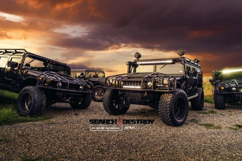 Hummer H1 On ADV5S Truck Spec HD.1 By EVS Motors 1 EVS Motors   extreme Hummer H1 auf ADV.1 Wheels