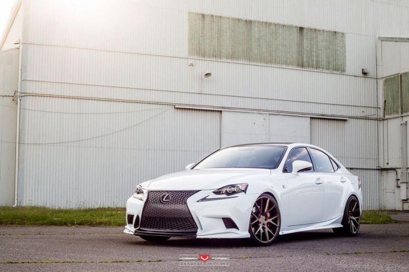 Lexus IS 305 On Vossen Forged VPS 306 By Vossen Wheels 1 Vossen Wheels VPS 306 am Lexus IS 305 in Weiß