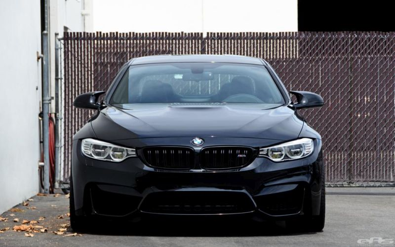 Matte Black HRE Wheels For A Black Sapphire M4 3 Schwarz & Schwarz   BMW M4 F82 mit HRE by EAS Tuning