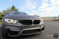 Matte Grey BMW M3 1 190x127 BMW M3 F80   Mattgraue Folierung by Impressiv Wrap