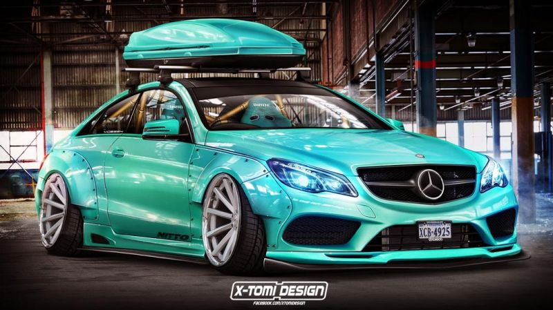 Mercedes Benz E Klasse Coupe xtomi 1 Irre   Mercedes Benz E 400 Coupe by X Tomi Design