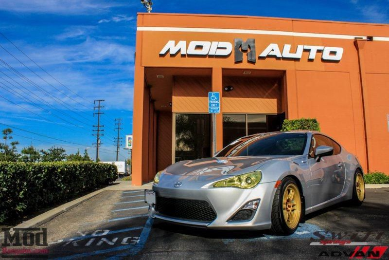 Scion FR S Enkei Toms Tails Swift Springs 1 Kompressor Power im Scion FR S mit ENKEI RPF 1 WHEELS