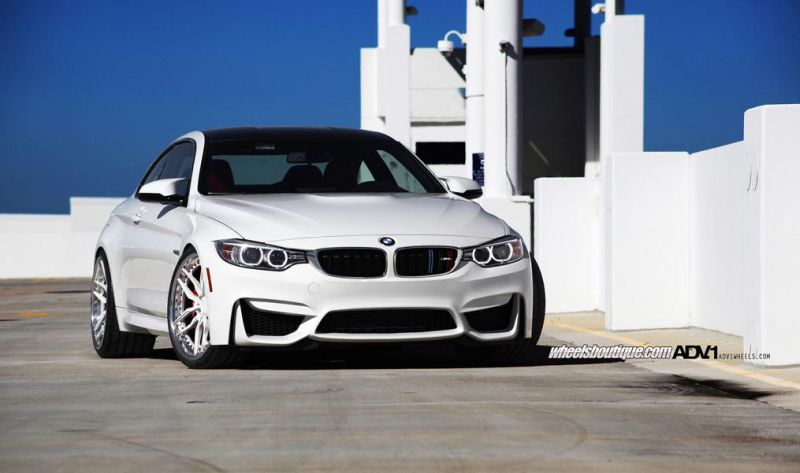 Wheels Boutique Does Another BMW M3 With ADV1 Wheels 1 Schick   BMW M4 F82 in Weiß mit weißen ADV005 Felgen
