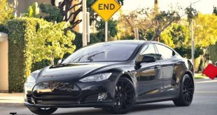 black on black tesla model s 1 310x165 Project Battleship   T Sportline Tesla Model S in Mattgrau