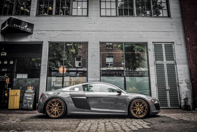 brixton forged m53 targa series audi r8 v10 grey 4 20 Zoll Brixton Wheels in Bronze am Audi R8 V10