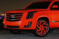 matte orange Cadillac Escalade tuning car 1 190x127 Knalliges Orange & Forgiato´s am Cadillac Escalade