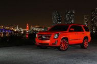 matte orange Cadillac Escalade tuning car 4 190x127 Knalliges Orange & Forgiato´s am Cadillac Escalade