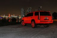 matte orange Cadillac Escalade tuning car 5 190x127 Knalliges Orange & Forgiato´s am Cadillac Escalade