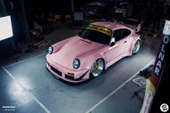 rwb building a porsche 911 tribute to 917 20 pink 10 190x127 Porsche 911 (964) Tuning by RAUH Welt mit 917/20 Optik