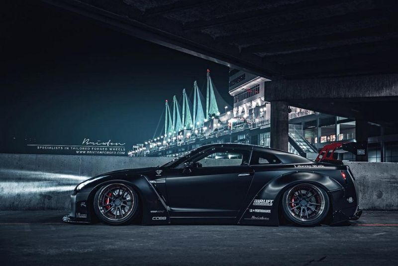 11958108 517545231728294 5782348716301080240 o Liberty Walk Nissan GT R mit Brixton Forged Wheels