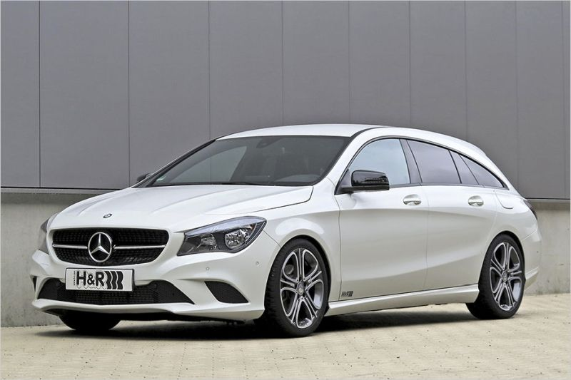 Mercedes Cla Shooting Brake 25mm Tiefer Dank H Amp R