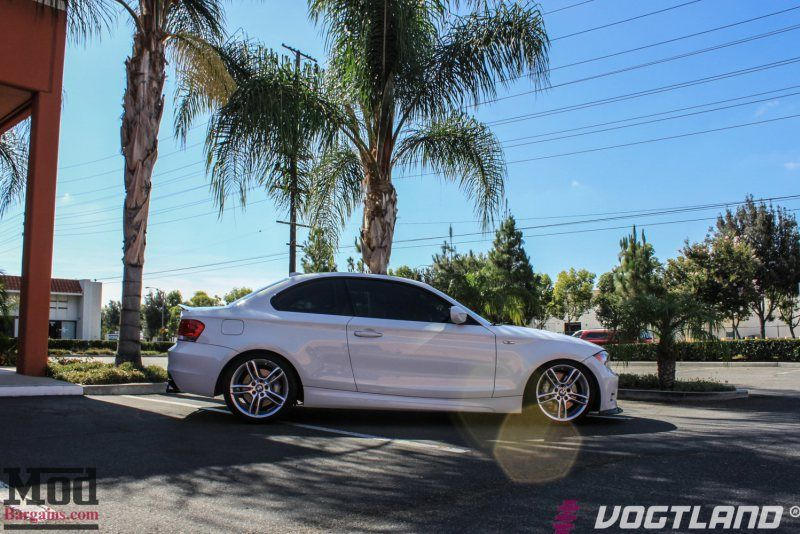 BMW E82 135i 1addict Vogtland springs remus quad exhaust 1 ModBargains Tuning am weißen BMW 135i Coupe