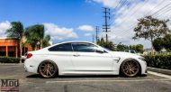 BMW F32 435i Stance Wheels Lip Exh Coils Spoiler White 3 190x102 BMW F32 435i mit Stance Wheels by ModBargains