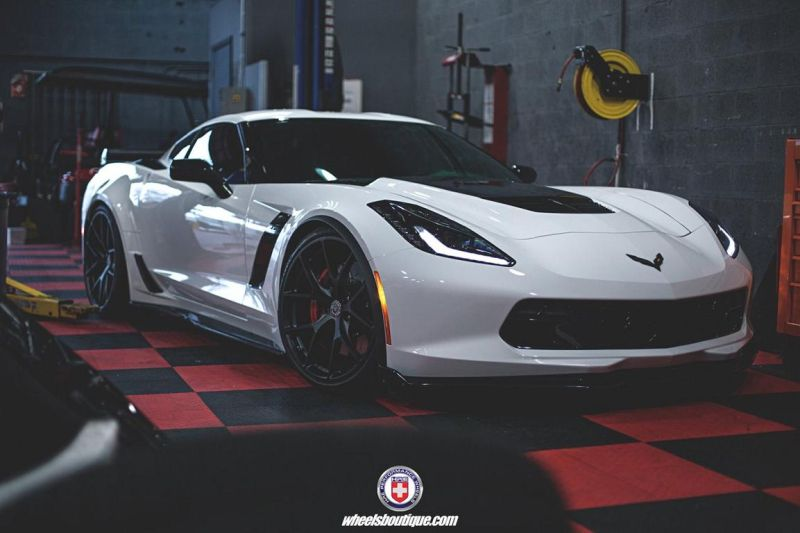Chevrolet Corvette Z06 on HRE P101 By HRE Wheels 01 21 Zoll HRE P101 Alu's auf der Chevrolet Corvette Z06