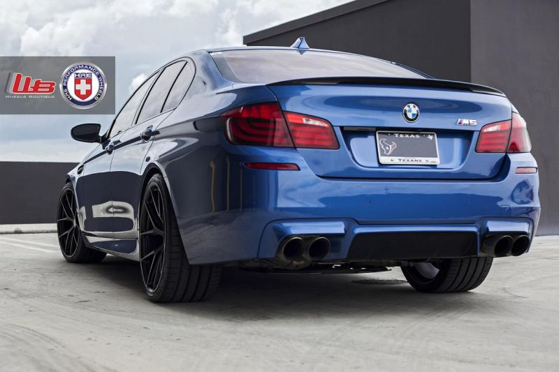 Clean Looking Monte Carlo Blue BMW F10 M3 On HRE Wheels 8 Wheels Boutique tunt den BMW M5 F10 mit 21 HRE Alu's
