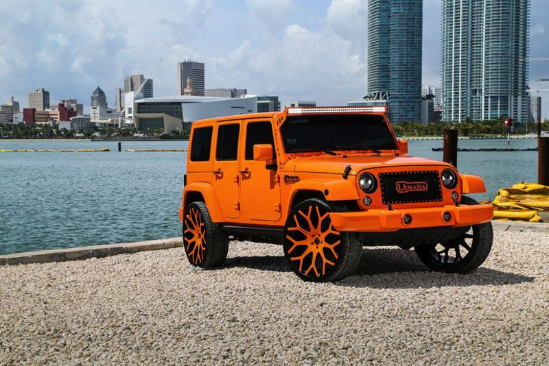 MC Customs Jeep Wrangler tuning 1 Krass Orange & 26 Zoll Forgiato's   Jeep Wrangler by MC