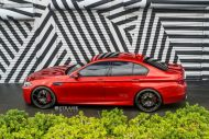 Strasse Wheels 780whp BMW F10 M5 21  SM5R Deep Concave Monoblock Wheels 7 190x127 21 Zoll Strasse Wheels SM5R am BMW M5 F10 in Rot