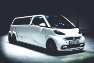 smart fortwo gets the stretch treatment becomes 8 190x127 Video: Giant Smart! Smart Fortwo as a stretch limousine