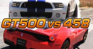 video mustang shelby gt500 gegen 310x165 Video: Mustang Shelby GT500 gegen Ferrari 458 Italia