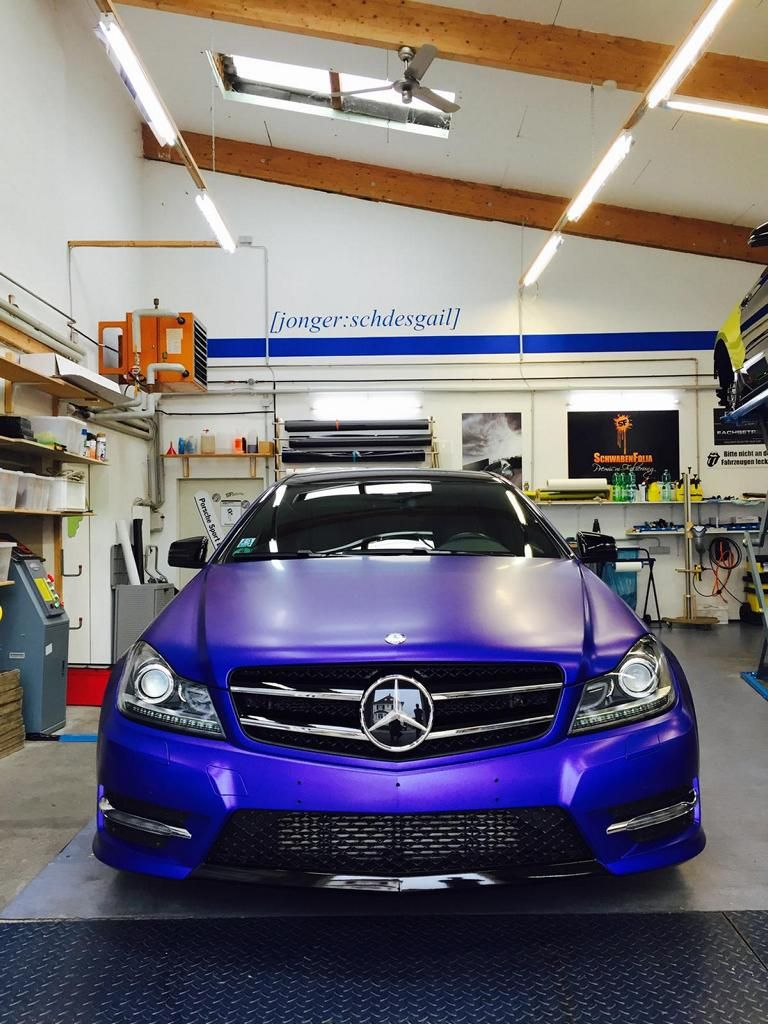 10496093 899517633435414 2998730261901046719 o Mystique Blue Folierung am Mercedes Benz C Coupe