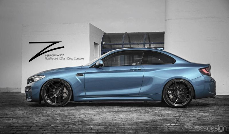 schon getunt bmw m2 auf z performance wheels zp2 1. Black Bedroom Furniture Sets. Home Design Ideas