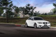 Alpine White BMW 1M Gets Aftermarket Wheels 1 190x127 20 Zoll ADV.1 Wheels Typ ADV5 MV.2 am BMW 1M Coupe