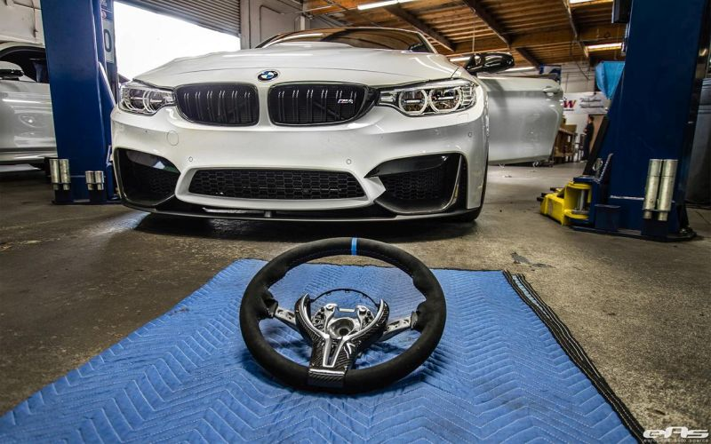 Alpine White BMW M4 Gets Modded At European Auto Source 1 European Auto Source   BMW M4 F82 mit Volk TE37 Alu's