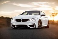 Alpine White BMW M4 with HRE S101 Wheels in Satin Bronze 1 190x127 HRE Performance Wheels S101 am BMW M4 F82