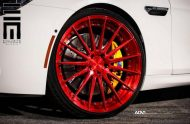 Alpine White BMW M6 Gran Coupe Gets Red Wheels 12 190x124 Candyrote 22 Zoll ADV.1 Wheels am BMW M6 Gran Coupe