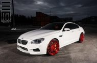 Alpine White BMW M6 Gran Coupe Gets Red Wheels 3 190x124 Candyrote 22 Zoll ADV.1 Wheels am BMW M6 Gran Coupe