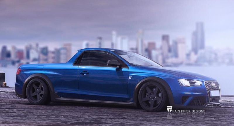 Audi RS4 Ute tuning a4 1 Audi RS4 B8 Pickup   Rendering by Rain Prisk Designs