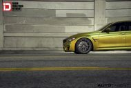 Austin Yellow BMW M3 With Klassen M10R Anthracite Grey Frost Wheels 1 190x127 BMW F80 M3 auf KlassenID M10R Wheels in Grau