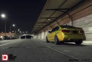 Austin Yellow BMW M3 With Klassen M10R Anthracite Grey Frost Wheels 3 190x127 BMW F80 M3 auf KlassenID M10R Wheels in Grau