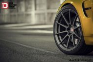 Austin Yellow BMW M3 With Klassen M10R Anthracite Grey Frost Wheels 6 190x127 BMW F80 M3 auf KlassenID M10R Wheels in Grau